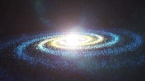 Mover-se para a galáxia espiral ilustração do vetor