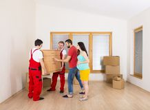 Movers in new house Royalty Free Stock Images