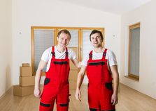 Movers in new house Royalty Free Stock Photography
