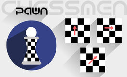 The moves of the chess pawn Royalty Free Stock Images