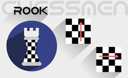The moves of the chess rook Royalty Free Stock Image