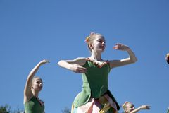 Moves of the teens ballet dancers are graceful Royalty Free Stock Image