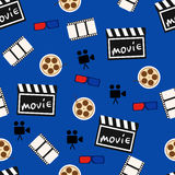 Movie abstract seamless pattern, movie background vector Royalty Free Stock Image