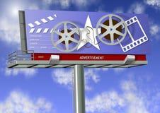 Movie advertisement Stock Image