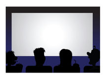 Movie audience. Cartoon vector illustration of a movie audience royalty free illustration