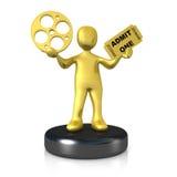 Movie Award. Computer Generated Image - Movie Award Stock Photography