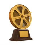 Movie Award. Isolated on white background. 3D render Stock Photos