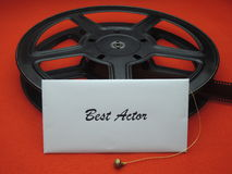 Movie awards - best actor Royalty Free Stock Image
