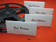 Movie awards - winner envelopes royalty free stock images