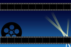 Movie background. Illustration of a movie background with filmstrip.Useful as poster or brochure.EPS file available