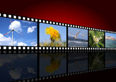 Movie background Stock Photography