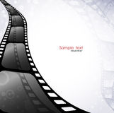 Movie Background. Black and white background with film Royalty Free Stock Photo