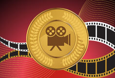 Movie Background: Camera Coin Royalty Free Stock Image