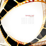 Movie Background. Camera film roll gold color, vector illustration Royalty Free Stock Photography
