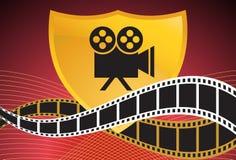 Movie Background: Camera Shield Stock Image