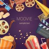 Movie Background Illustration Stock Images