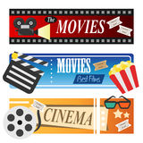 Movie banners Royalty Free Stock Image