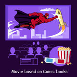 Movie Based on Comic Books Banner Royalty Free Stock Photography