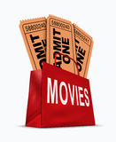 Movie business box Stock Images