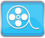 Movie Button Stock Images