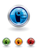 Movie button from series Royalty Free Stock Photo