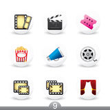 Movie buttons...series no.9 Stock Images