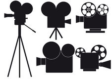 Movie camera vector illustration
