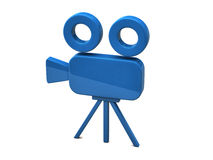 Movie Camera. Illustration of a blue movie camera isolated on white background royalty free illustration