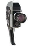 Movie camera. Vintage movie camera isolated on white Stock Photography