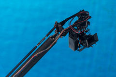 Movie camera on a crane Stock Photo