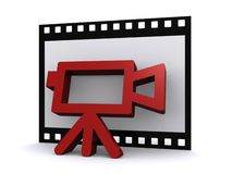Movie camera and film  Royalty Free Stock Image