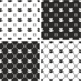 Movie Camera & Filmstrip Big & Small Seamless Pattern Set. This image is a illustration and can be scaled to any size without loss of resolution Stock Photography