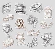 Movie camera-hand drawn Royalty Free Stock Photography