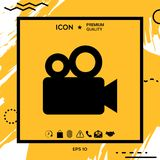 Movie camera icon. Element for your design Stock Photography