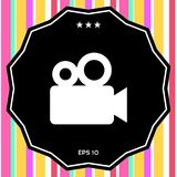 Movie camera icon. Signs and symbols - graphic elements for your design Royalty Free Stock Photo