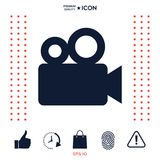 Movie camera icon. Signs and symbols - graphic elements for your design Stock Image