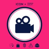 Movie camera icon. Signs and symbols - graphic elements for your design Stock Photos