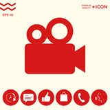 Movie camera icon. Signs and symbols - graphic elements for your design Royalty Free Stock Photography