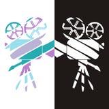 Movie camera icons. Set of two stylized movie camera icons - design  illustration Stock Photography