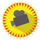 Movie camera Stock Image