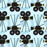 Movie camera seamless background design. A background design for graphic element use Stock Photography