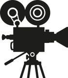 Movie camera silhouette. Cinema vector Stock Photo