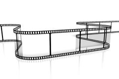 Movie/ camera tape concept Royalty Free Stock Photography