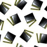 Movie cinema clapboard pattern. Abstract seamless texture; art illustration Stock Photography