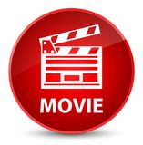 Movie (cinema clip icon) elegant red round button. Movie (cinema clip icon) isolated on elegant red round button abstract illustration Stock Photos