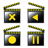 Movie cinema detailed icons Stock Image