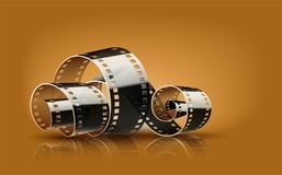 Movie cinema film reel Royalty Free Stock Images