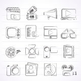 Movie and cinema icons. Vector icon set Stock Photo