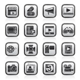Movie and cinema icons. Vector icon set Stock Image