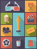 Movie and Cinema icons vector illustration. Stock Images